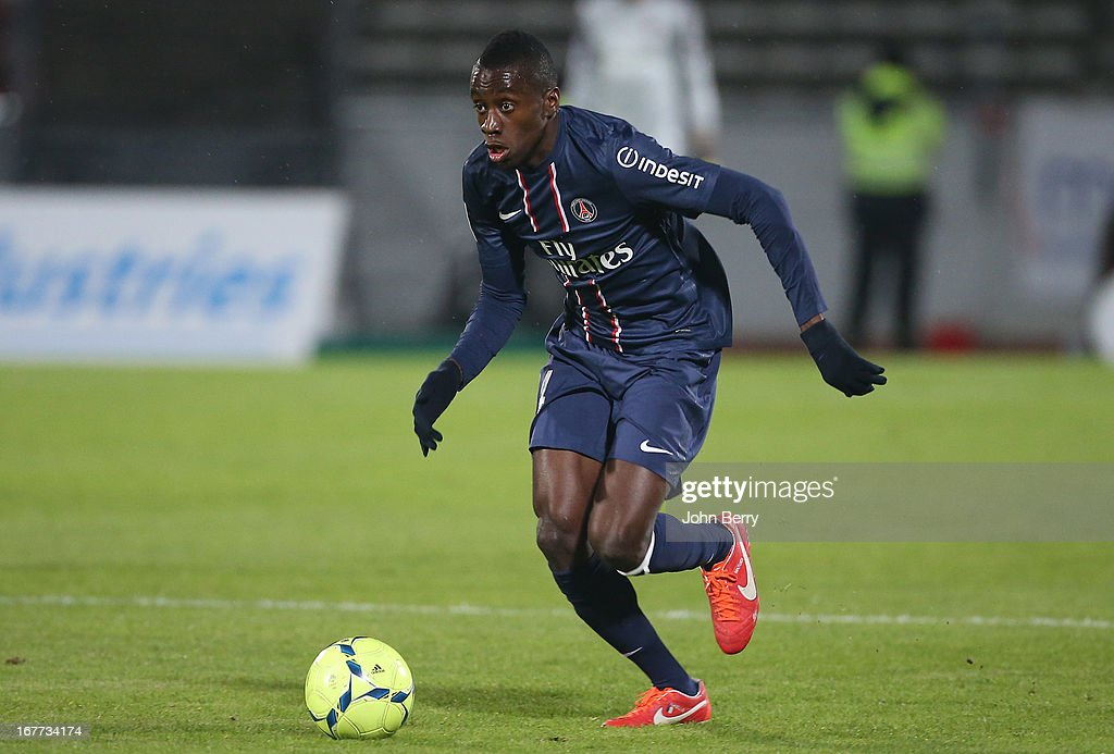 <a gi-track='captionPersonalityLinkClicked' href=/galleries/search?phrase=Blaise+Matuidi&family=editorial&specificpeople=801779 ng-click='$event.stopPropagation()'>Blaise Matuidi</a> of PSG in action during the Ligue 1 match between Evian Thonon Gaillard FC, ETG, and Paris Saint Germain FC, PSG, at the Parc des Sports d'Annecy on April 28, 2013 in Annecy, France.