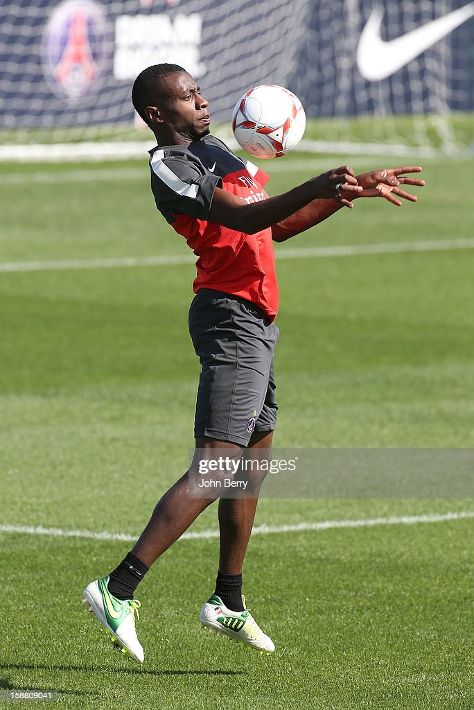 Blaise Matuidi of PSG in action during the Paris Saint Germain training camp held at the Aspire Academy for Sports Excellence on December 29, 2012 in Doha, Qatar.