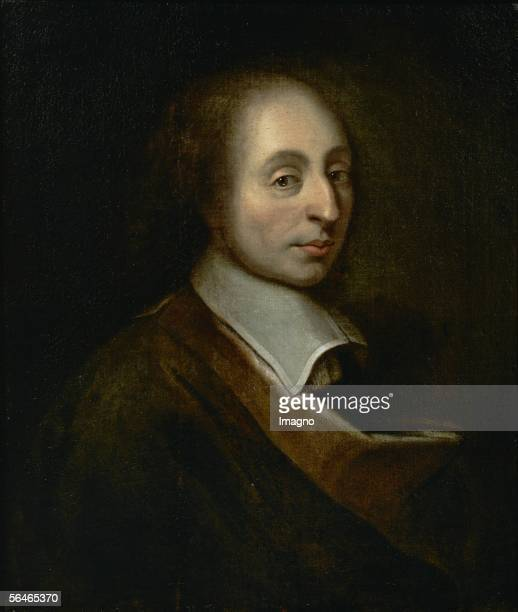 Blaise Pascal Canvas from Augustin Quesnel Musee National du Chateau Versailles France France [Blaise Pascal Gemaelde von Augustin Quesnel Musee...
