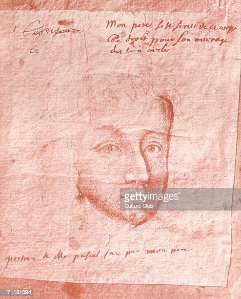 Blaise Pascal Drawing in red by Domat a friend of Pascal's The only portrait of Pascal to have been done whilst he was alive French physicist...