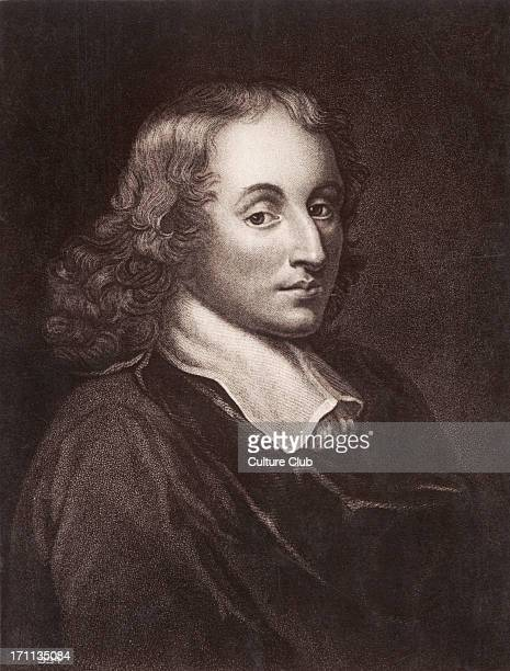 Blaise Pascal French mathematician physicist and philosopher 16231662 Engraved portrait