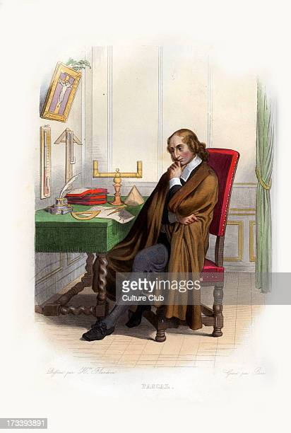 Blaise Pascal French mathematician physicist inventor writer and Catholic philosopher 16231662 Engraving by Geille