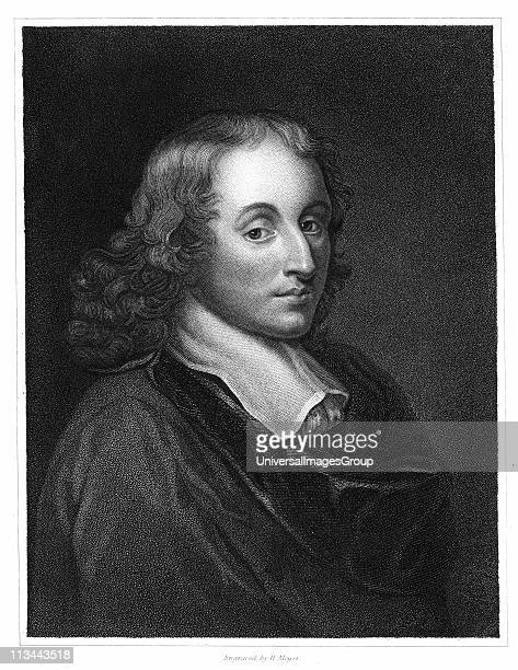 Blaise Pascal French philosopher mathematician physicist and theologian Steel engraving c1830