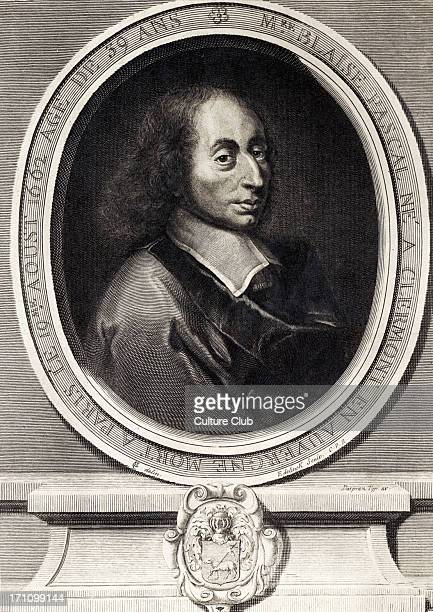 Blaise Pascal portrait of the French mathematician physicist and philosopher 19 June 1623 19 August 1662 Engraving by Edelinck after a portrait by...