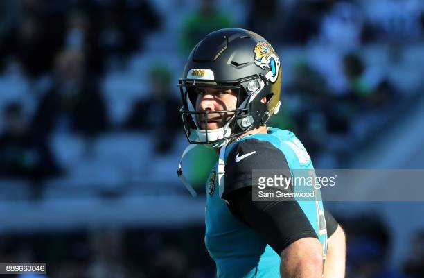 Blake Bortles of the Jacksonville Jaguars warms up on the field prior to the start of their game against the Seattle Seahawks at EverBank Field on...