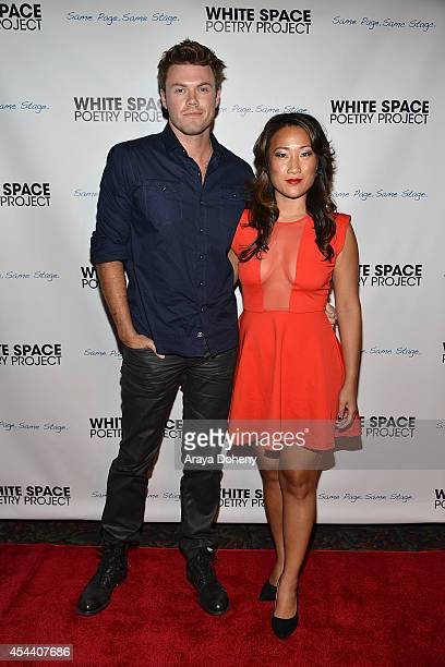 Blake Cooper Griffin and Tina Huang attend the White Space Poetry Project presents a poetic evening on August 30 2014 in Los Angeles California