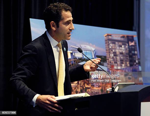 Blake Cordish Vice President of The Cordish Companies talks about the new phases of the development at a event in Arlington Tuesday Sept 20 2016...