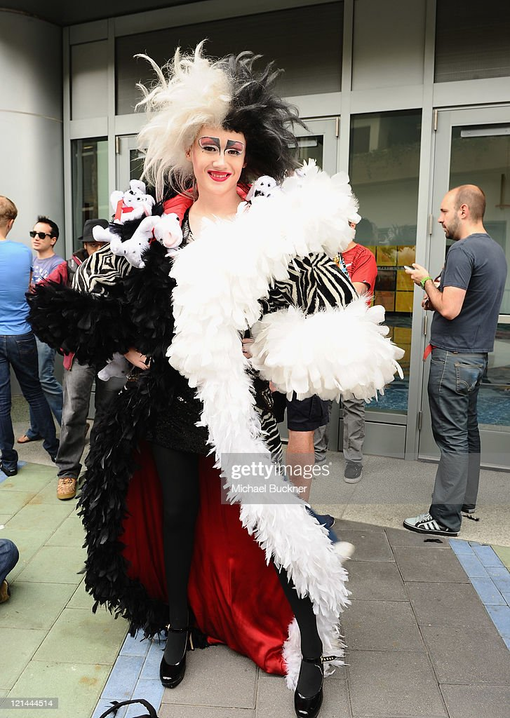 Blake Danford, a fan dressed as Cruella de Vil, attends Day One of Disney's D23 Expo 2011 at the Anaheim Convention Center on August 19, 2011 in Anaheim, California.