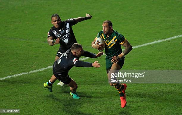 Blake Ferguson of Australia during the Four Nations match between the New Zealand and Australia at The Ricoh Arena on November 5 2016 in Coventry...