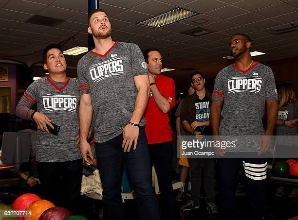 Blake Griffin and Chris Paul of the LA Clippers participate during the LA Clippers Foundation Hosts Annual Charity Basketbowl Challenge Presented by...