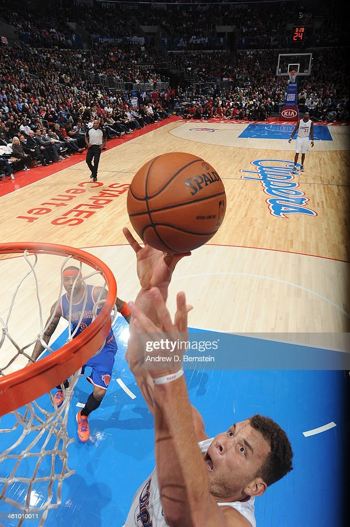 <a gi-track='captionPersonalityLinkClicked' href=/galleries/search?phrase=Blake+Griffin+-+Basketball+Player&family=editorial&specificpeople=4216010 ng-click='$event.stopPropagation()'>Blake Griffin</a> #32 going for a dunk in game against the New York Knicks at Staples Center on November 27, 2013 in Los Angeles, California.