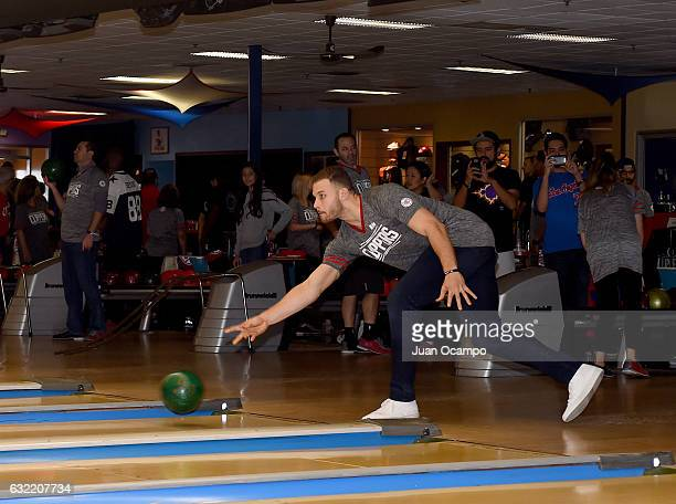 Blake Griffin of the LA Clippers bowls during the LA Clippers Foundation Hosts Annual Charity Basketbowl Challenge Presented by Children's Hospital...