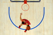 Blake Griffin of the Los Angeles Clippers and Team Shaq dunks during the BBVA Rising Stars Challenge part of the 2012 NBA AllStar Weekend at Amway...