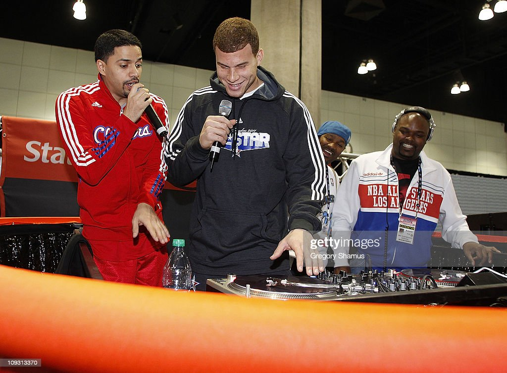 Blake Griffin of the Los Angeles Clippers does an appearance at the State Farm Scratch Center at Jam Session presented by Adidas during NBA All Star Weekend on February 20, 2011 in Los Angeles California.