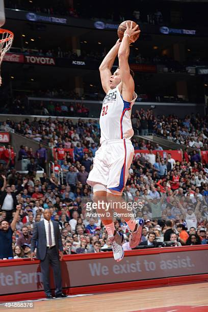 Blake Griffin of the Los Angeles Clippers dunks against the Dallas Mavericks during the game on October 29 2015 at STAPLES Center in Los Angeles...