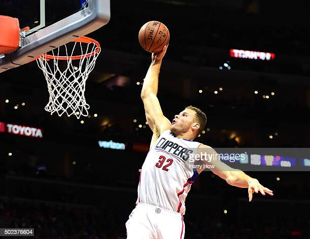 Blake Griffin of the Los Angeles Clippers dunks against the Utah Jazz at Staples Center on November 25 2015 in Los Angeles California