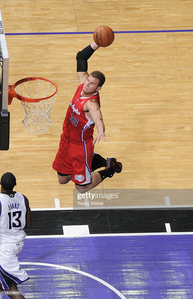 <a gi-track='captionPersonalityLinkClicked' href=/galleries/search?phrase=Blake+Griffin+-+Basketball+Player&family=editorial&specificpeople=4216010 ng-click='$event.stopPropagation()'>Blake Griffin</a> #32 of the Los Angeles Clippers dunks against Tyreke Evans #13 of the Sacramento Kings on March 19, 2013 at Sleep Train Arena in Sacramento, California.