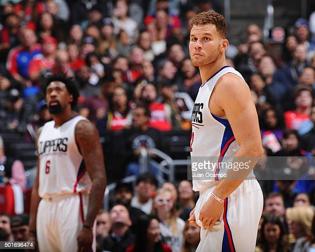 Blake Griffin of the Los Angeles Clippers during the game against the Milwaukee Bucks on December 16 2015 at STAPLES Center in Los Angeles California...
