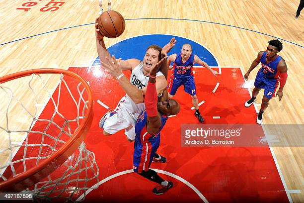 Blake Griffin of the Los Angeles Clippers goes for the layup during the game on November 14 2015 at STAPLES Center in Los Angeles California NOTE TO...
