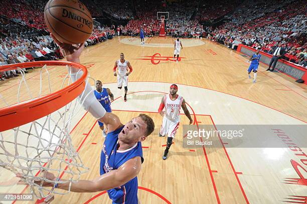Blake Griffin of the Los Angeles Clippers goes to the basket against the Houston Rockets in Game One of the Western Conference Semifinals during the...