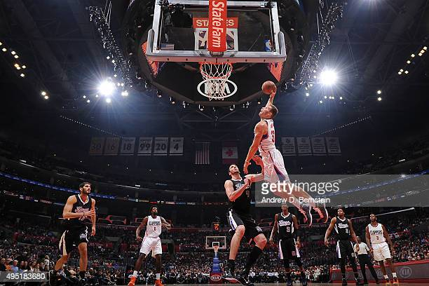 Blake Griffin of the Los Angeles Clippers goes up for a dunk against the Sacramento Kings on October 31 2015 at STAPLES Center in Los Angeles...