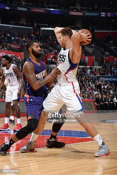 Blake Griffin of the Los Angeles Clippers handles the ball against the Phoenix Suns on November 2 2015 at STAPLES Center in Los Angeles California...