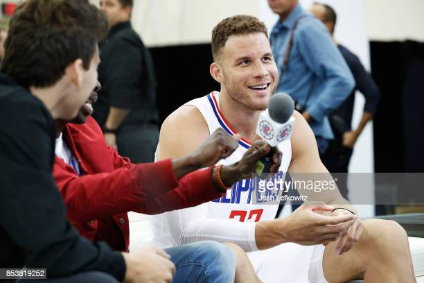 Blake Griffin of the Los Angeles Clippers is seen during media day at the Los Angeles Clippers Training Center on September 25 2017 in Playa Vista...