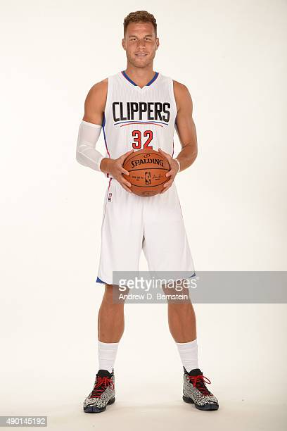 Blake Griffin of the Los Angeles Clippers poses for a portrait during media day at the Los Angeles Clippers Training Center on September 25 2015 in...