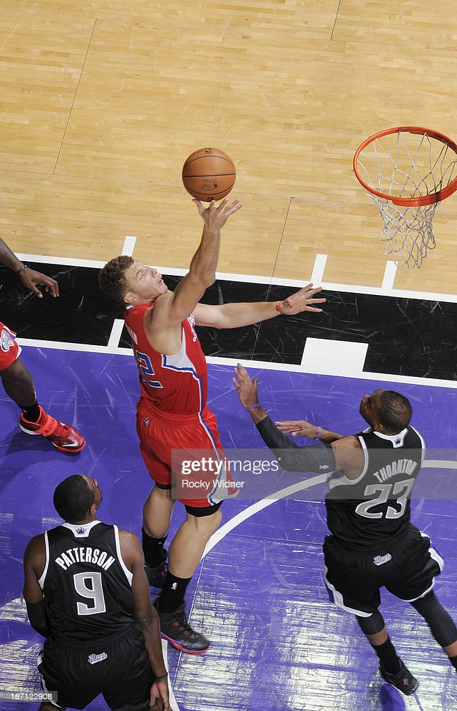 <a gi-track='captionPersonalityLinkClicked' href=/galleries/search?phrase=Blake+Griffin+-+Basketball+Player&family=editorial&specificpeople=4216010 ng-click='$event.stopPropagation()'>Blake Griffin</a> #32 of the Los Angeles Clippers shoots the ball against the Sacramento Kings on November 1, 2013 at Sleep Train Arena in Sacramento, California.