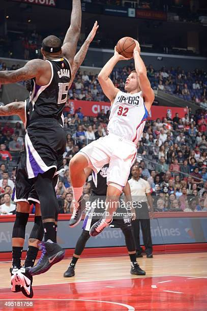 Blake Griffin of the Los Angeles Clippers shoots the ball against the Sacramento Kings on October 31 2015 at STAPLES Center in Los Angeles California...