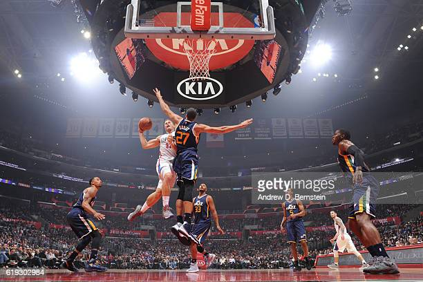 Blake Griffin of the Los Angeles Clippers shoots the ball against the Utah Jazz on October 30 2016 at STAPLES Center in Los Angeles California NOTE...