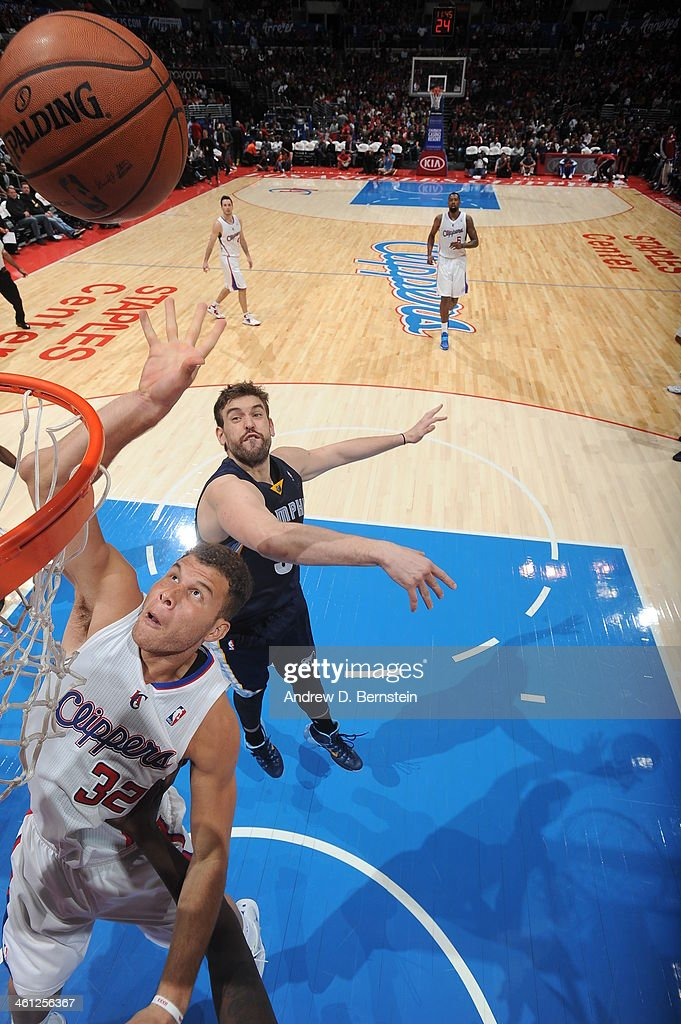 <a gi-track='captionPersonalityLinkClicked' href=/galleries/search?phrase=Blake+Griffin+-+Basketball+Player&family=editorial&specificpeople=4216010 ng-click='$event.stopPropagation()'>Blake Griffin</a> #32 of the Los Angeles Clippers with a put back in a game against the Memphis Grizzlies at Staples Center on November 18, 2013 in Los Angeles, California.