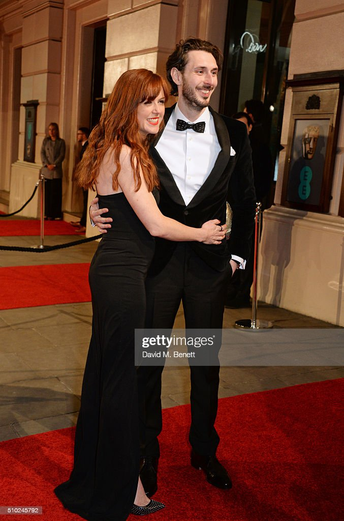 <a gi-track='captionPersonalityLinkClicked' href=/galleries/search?phrase=Blake+Harrison&family=editorial&specificpeople=5800049 ng-click='$event.stopPropagation()'>Blake Harrison</a> (R) and Kerry Ann Lynch attend the EE British Academy Film Awards at The Royal Opera House on February 14, 2016 in London, England.