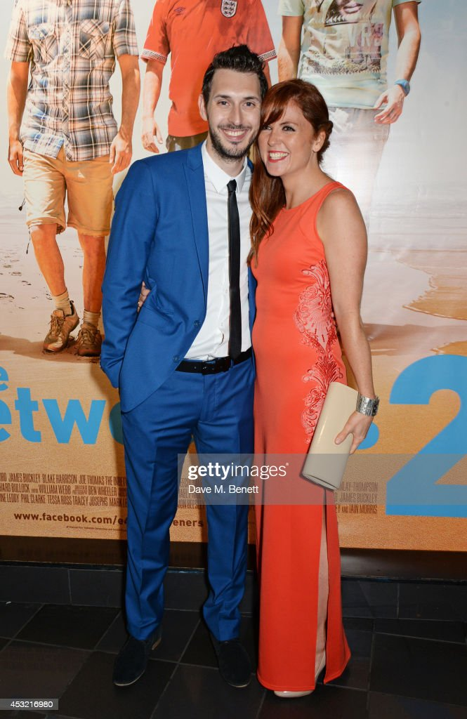 <a gi-track='captionPersonalityLinkClicked' href=/galleries/search?phrase=Blake+Harrison&family=editorial&specificpeople=5800049 ng-click='$event.stopPropagation()'>Blake Harrison</a> (L) and Kerry Ann Lynch attend the World Premiere of 'The Inbetweeners 2' at Vue West End on August 5, 2014 in London, England.