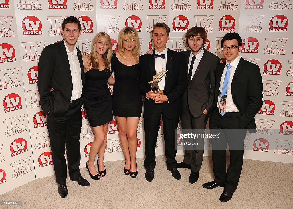 Blake Harrison Joe Thomas James Buckley 2nd R and Simon Bird R winners of Best Comedy Show for 'The Inbetweeners' at the TV Quick Tv Choice Awards at...
