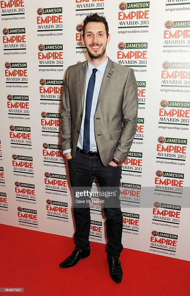 Blake Harrison poses in the press room at the Jameson Empire Awards 2013 at The Grosvenor House Hotel on March 24, 2013 in London, England.