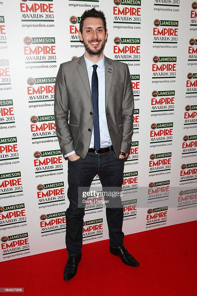 Blake Harrison poses in the press room at the Jameson Empire Awards 2013 at Grosvenor House Hotel on March 24, 2013 in London, England.
