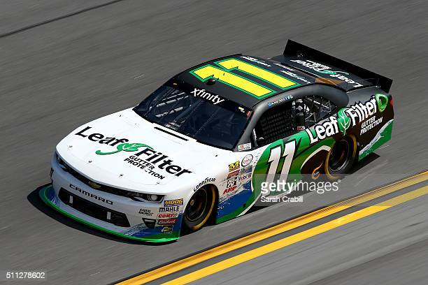 Blake Koch driver of the Leaf Filter Gutter Protection Chevrolet practices for the NASCAR XFINITY Series PowerShares QQQ 300 at Daytona International...