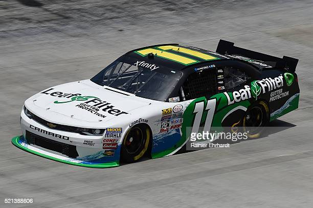 Blake Koch driver of the LeafFilter Gutter Protection Chevrolet practices for the NASCAR XFINITY Series Fitzgerald Glider Kits 300 at Bristol Motor...