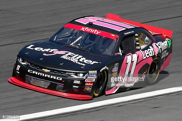 Blake Koch driver of the LeafFilter Gutter Protection Chevrolet during practice for the NASCAR XFINITY Series Drive for the Cure 300 at Charlotte...