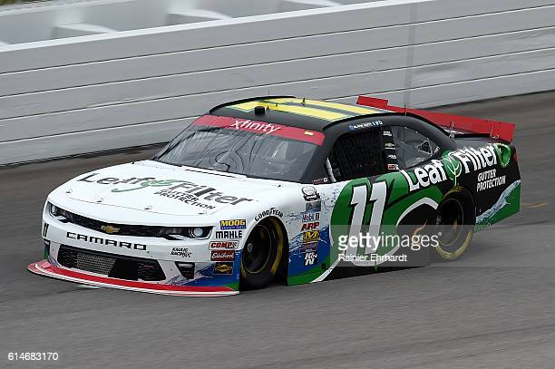 Blake Koch driver of the LeafFilter Gutter Protection Chevrolet practices for the NASCAR XFINITY Series Kansas Lottery 300 at Kansas Speedway on...
