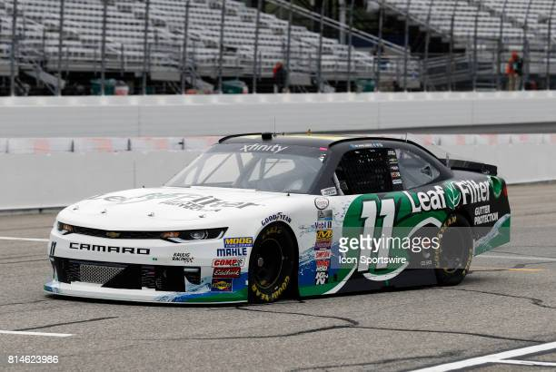 Blake Koch Xfinity Series driver of the LeafFilter Gutter Protection Chevrolet on pit road during practice for the Overton's 200 NASCAR Xfinity...