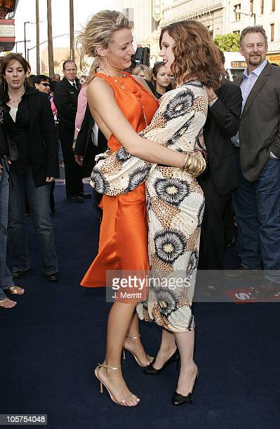 Blake Lively and Amber Tamblyn during 'The Sisterhood of the Traveling Pants' Los Angeles Premiere at Grauman's Chinese Theatre in Hollywood...