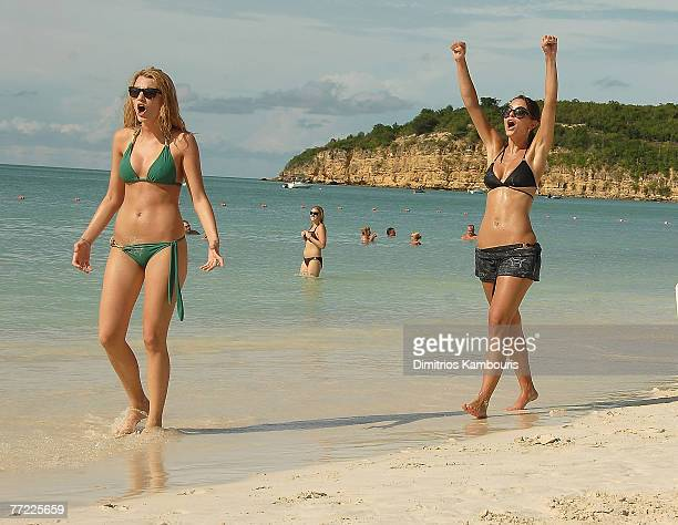ST JOHN'S ANTIGUA AND BARBUDA OCTOBER 06 BER 06 BER 06 Blake Lively and Maria Menounos attend the Grand Opening of Mediterranean Village at Sandals...
