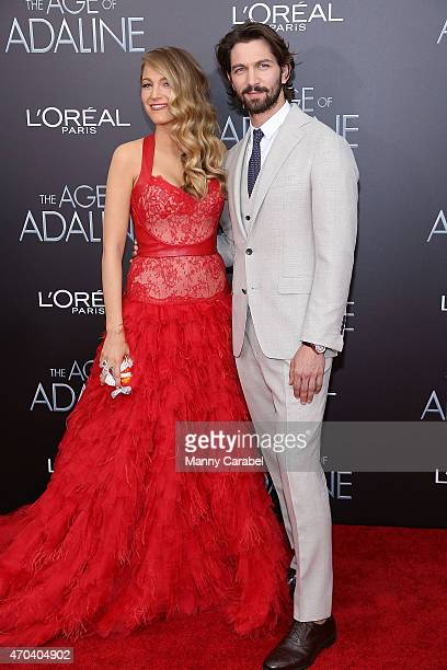 Blake Lively and Michiel Huisman attends 'The Age of Adaline' premiere at AMC Loews Lincoln Square 13 theater on April 19 2015 in New York City