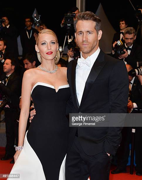 Blake Lively and Ryan Reynolds attend the 'Captives' Premiere at the 67th Annual Cannes Film Festival on May 16 2014 in Cannes France