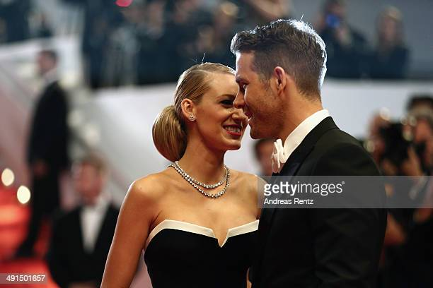 Blake Lively and Ryan Reynolds attend the 'Captives' premiere during the 67th Annual Cannes Film Festival on May 16 2014 in Cannes France