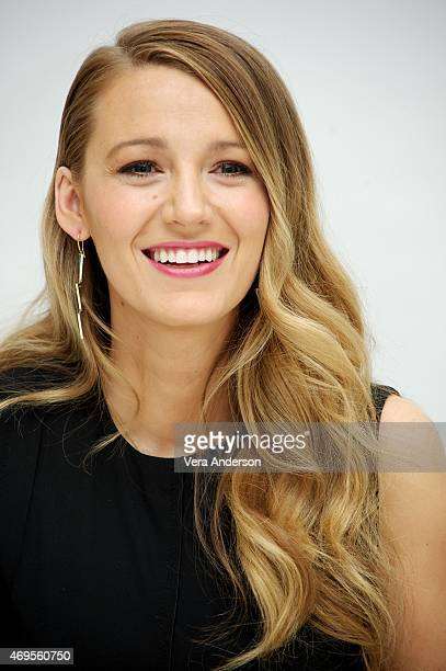 Blake Lively at the 'Age Of Adaline' Press Conference at the Four Seasons Hotel on April 12 2015 in Beverly Hills California