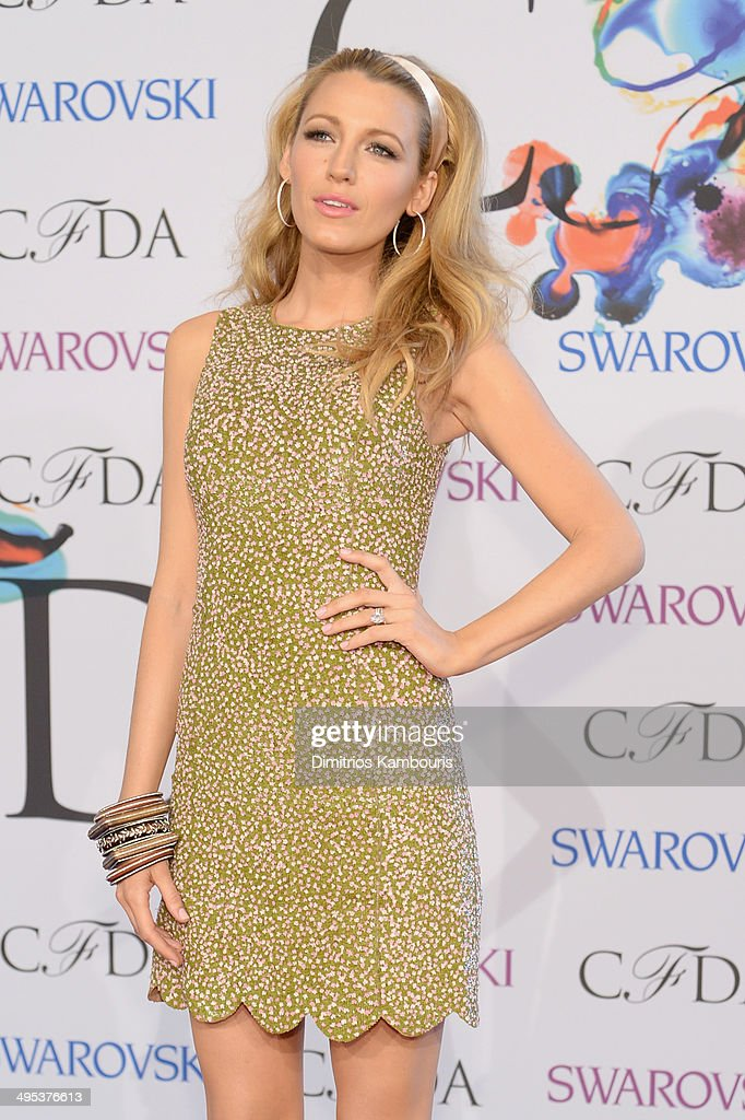 Blake Lively attends the 2014 CFDA fashion awards at Alice Tully Hall, Lincoln Center on June 2, 2014 in New York City.