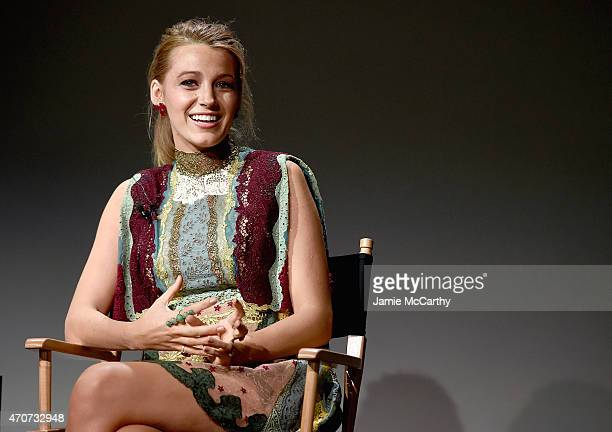 Blake Lively attends the Apple Store Soho Presents Meet The Filmmaker Blake Lively 'Age of Adaline' at Apple Store Soho on April 22 2015 in New York...
